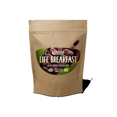 LIFE BREAKFAST Kaše kakaová proteinová s quinoou a skořicí BIO RAW