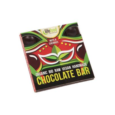 Lifefood čokoláda s ořechy a třešněmi BIO RAW 35 g