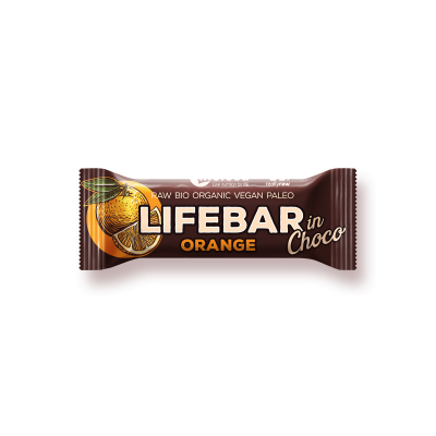 Lifebar InChoco pomeranč BIO RAW