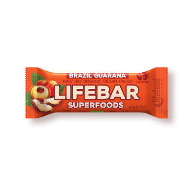 Lifebar Superfoods brazilská s guaranou BIO RAW