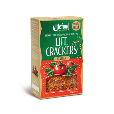 LIFE CRACKERS Italské BIO RAW