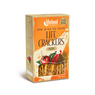 LIFE CRACKERS à la pizza BIO RAW