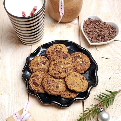 S sebou k vánočnímu stromečku: Sušenky s kousky čokolády