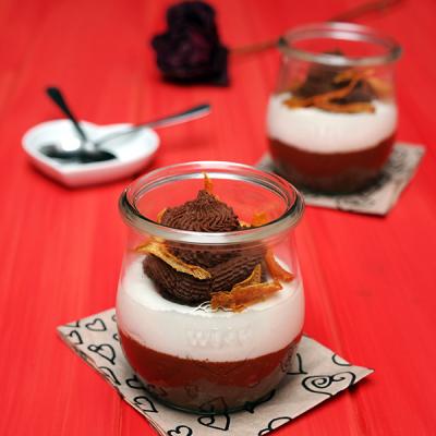 Lehký čokoládovo-pomerančový mousse