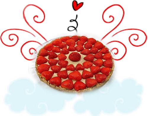 Valentýnský jahodový dort ve vanilkovém nebi