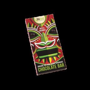 Lifefood čokoláda s ořechy a třešněmi BIO RAW 70 g