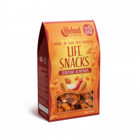 LIFE SNACKS Teriyaki mandle BIO RAW