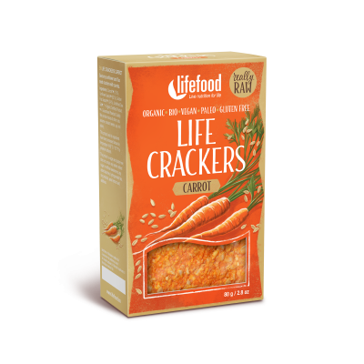 Raw Organic Carrot Life Crackers