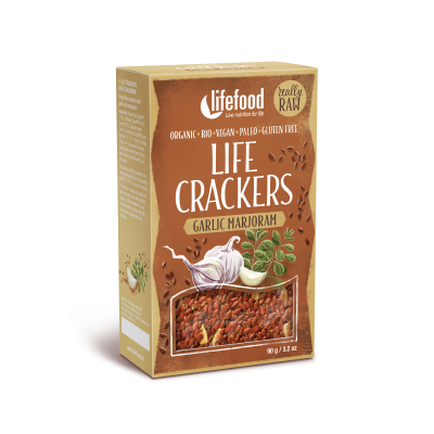 Raw Organic Garlic Marjoram Life Crackers