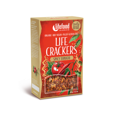 Raw Organic Spicy Tomato Life Crackers