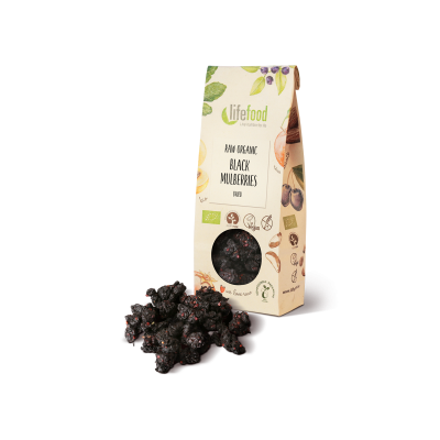 Raw Organic Dried Black Mulberries