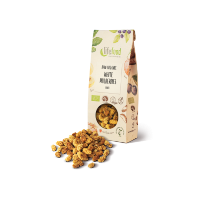 Raw Organic Dried White Mulberries