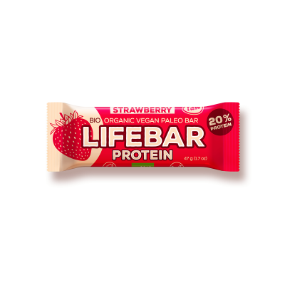 Raw Organic Lifebar Protein Strawberry