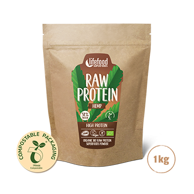 Raw Organic Hemp Power Protein Superfood Powder 1 kg