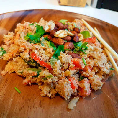 Cauliflower Couscous Teriyaki