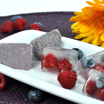 Fruity ice cream cubes