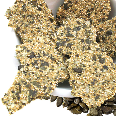 Pumpkin Seeds & Quinoa Crackers