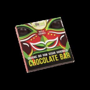 Raw Organic Nuts & Cherries Chocolate 35g