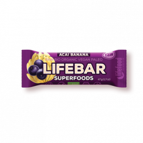 Raw Organic Lifebar Superfoods Açaí Banana