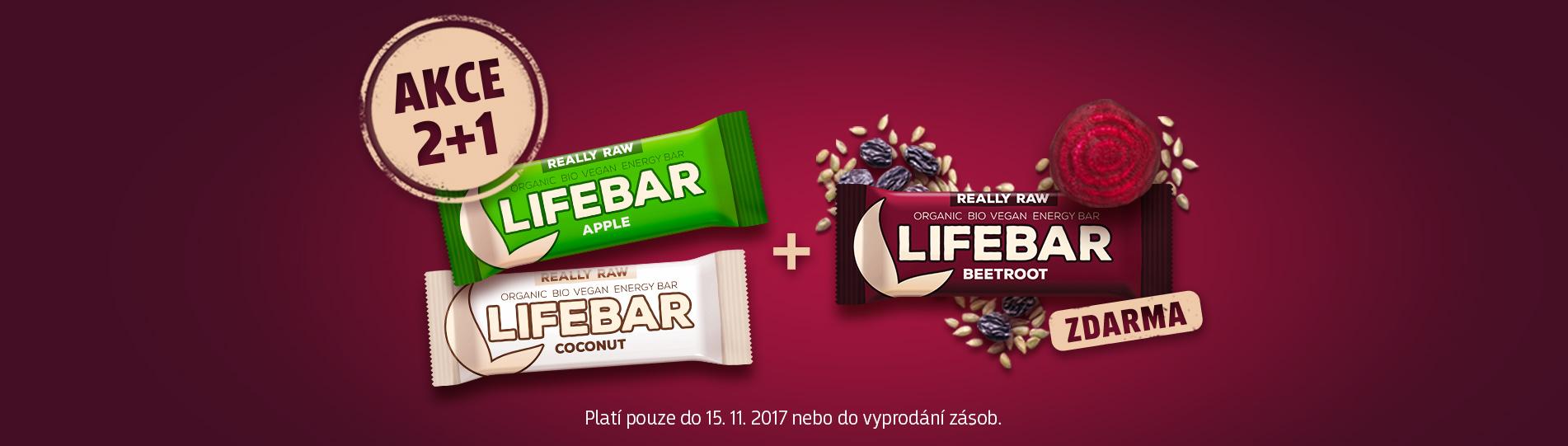 Akce 2+1 Lifebar ZDARMA