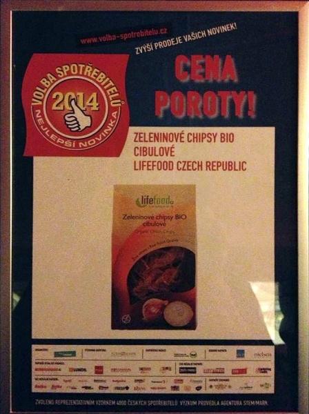 Cena poroty pro vítězné Zeleninové chipsy Lifefood