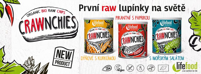 Crawnchies první raw lupínky na světě