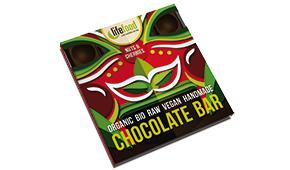 Lifefood raw čokoláda střední s ořechy a třešněmi