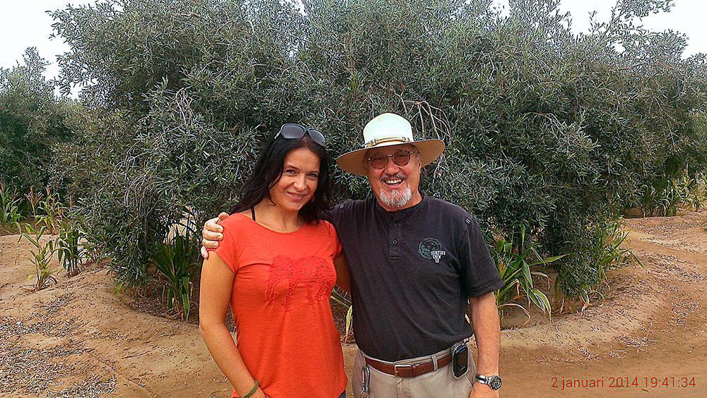 Tereza na olivové farmě