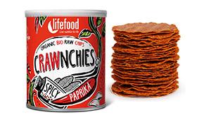 Raw Crawnchies Crisps Spicy Paprika