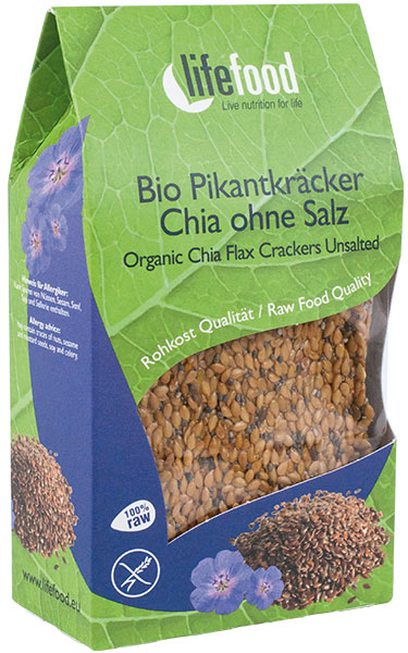 unsalted chia crackers