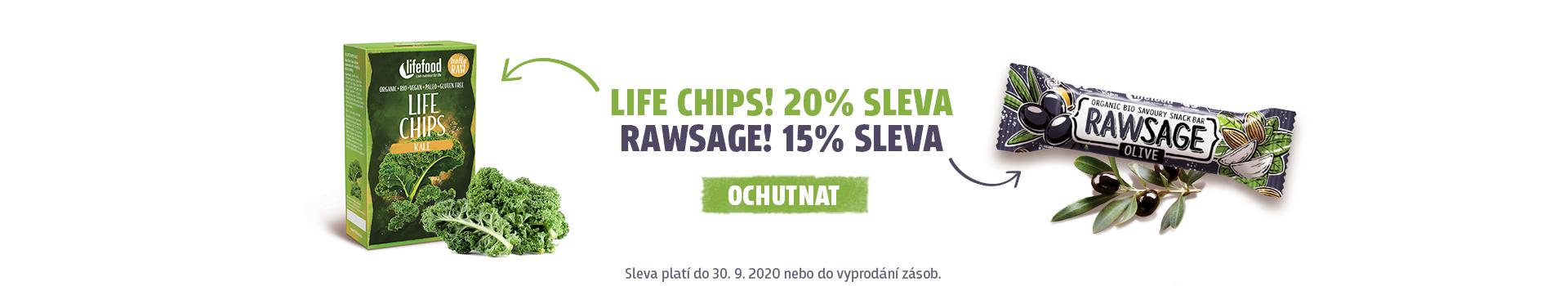 Akce září slaný snack a chips
