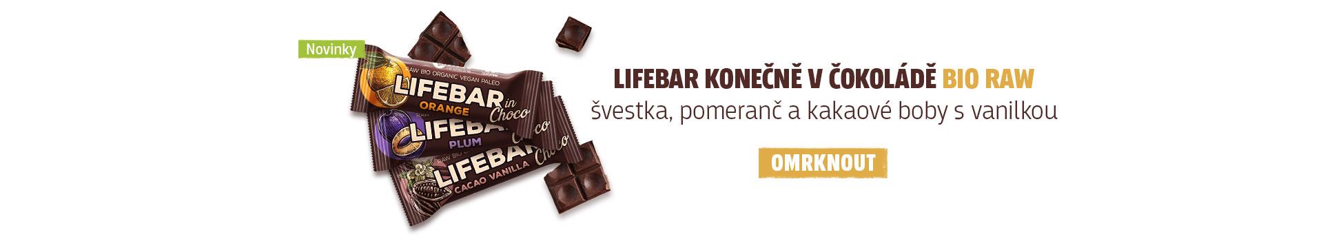 Nové tyčinky Lifebar v čokoládě!